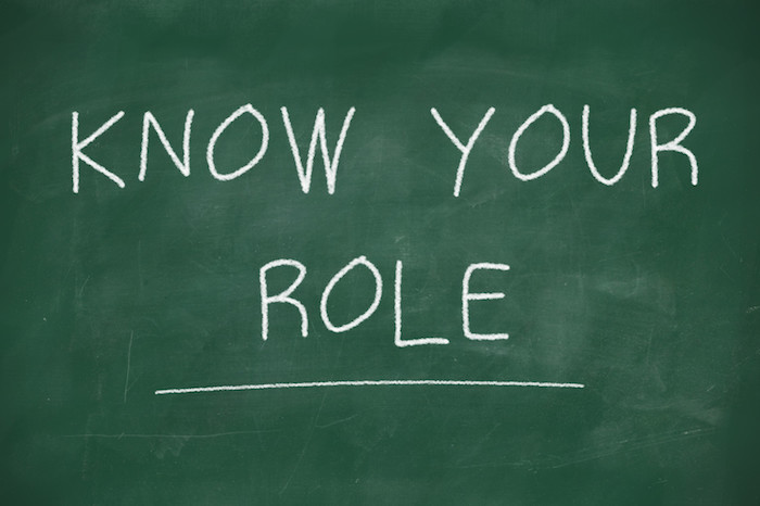 Chalkboard that says Know your role.